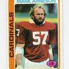1978 Topps Football #027 Mark Arneson - St. Louis Cardinals