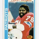 1978 Topps Football #016 Tony McGee - New England Patriots