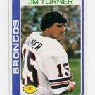 1978 Topps Football #012 Jim Turner - Denver Broncos