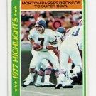 1978 Topps Football #002 Craig Morton HL - Denver Broncos