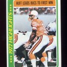 1978 Topps Football #001 Gary Huff HL - Tampa Bay Buccaneers