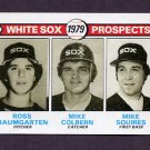 1979 Topps Baseball #704 Ross Baumgarten RC / Mike Colbern RC / Mike Squires RC - Chicago White Sox