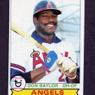 1979 Topps Baseball #635 Don Baylor - California Angels
