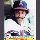 1979 Topps Baseball #619 Ken Landreaux RC - California Angels