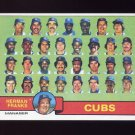 1979 Topps Baseball #551 Chicago Cubs Team Checklist / Herman Franks MG NM-M