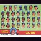 1979 Topps Baseball #551 Chicago Cubs Team Checklist / Herman Franks MG Ex