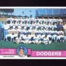 1979 Topps Baseball #526 Los Angeles Dodgers Team Checklist / Tom Lasorda MG NM-M