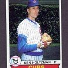 1979 Topps Baseball #522 Ken Holtzman - Chicago Cubs