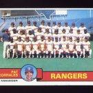 1979 Topps Baseball #499 Texas Rangers Team Checklist / Pat Corrales MG Ex