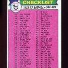 1979 Topps Baseball #483 Checklist 364-484 ExMt