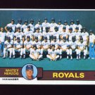 1979 Topps Baseball #451 Kansas City Royals Team Checklist / Whitey Herzog MG ExMt