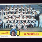1979 Topps Baseball #424 California Angels Team Checklist / Jim Fregosi MG VgEx