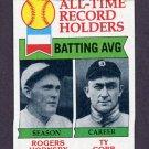1979 Topps Baseball #414 Rogers Hornsby / Ty Cobb