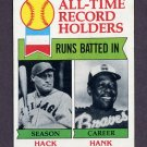1979 Topps Baseball #412 Hack Wilson / Hank Aaron