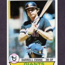 1979 Topps Baseball #410 Darrell Evans - San Francisco Giants