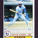 1979 Topps Baseball #395 Dave Cash - Montreal Expos
