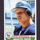 1979 Topps Baseball #351 Wayne Nordhagen - Chicago White Sox