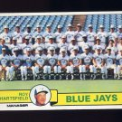 1979 Topps Baseball #282 Toronto Blue Jays Team Checklist / Roy Hartsfield MG Ex