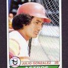 1979 Topps Baseball #268 Julio Gonzalez - Houston Astros