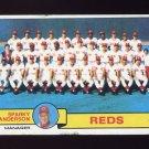 1979 Topps Baseball #259 Cincinnati Reds Team Checklist / Sparky Anderson MG G-Vg