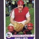 1979 Topps Baseball #161 Barry Foote - Philadelphia Phillies