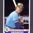 1979 Topps Baseball #154 Jim Gantner - Milwaukee Brewers