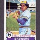 1979 Topps Baseball #133 Bill Castro - Milwaukee Brewers