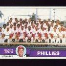 1979 Topps Baseball #112 Philadelphia Phillies Team Checklist / Danny Ozark MG