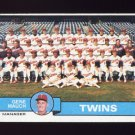 1979 Topps Baseball #041 Minnesota Twins Team Checklist / Gene Mauch MG G-Vg