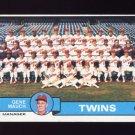 1979 Topps Baseball #041 Minnesota Twins Team Checklist / Gene Mauch MG Ex