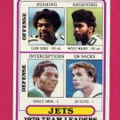 1980 Topps Football #507 New York Jets Team Leaders