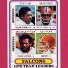 1980 Topps Football #411 Atlanta Falcons Team Leaders