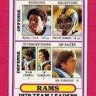 1980 Topps Football #394 Los Angeles Rams Team Leaders