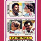1980 Topps Football #359 St. Louis Cardinals Team Leaders / Ottis Anderson