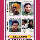 1980 Topps Football #303 Green Bay Packers Team Leaders / James Lofton