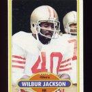 1980 Topps Football #302 Wilbur Jackson - San Francisco 49ers