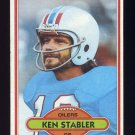 1980 Topps Football #065 Ken Stabler - Houston Oilers G