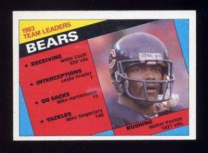 1984 Topps Football #221 Chicago Bears Team Leaders / Walter Payton
