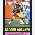 1985 Topps Football #002 Eric Dickerson RB - Los Angeles Rams