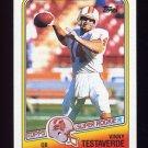 1988 Topps Football #352 Vinny Testaverde RC - Tampa Bay Buccaneers