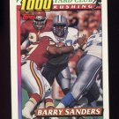 1991 Topps Football 1000 Yard Club #02 Barry Sanders - Detroit Lions