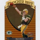 1999 Bowman's Best Football Franchise Best #FB5 Brett Favre - Green Bay Packers