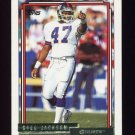 1992 Topps Gold Football #291 Greg Jackson - New York Giants