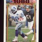 1992 Topps Football 1000 Yard Club #02 Barry Sanders - Detroit Lions