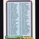 1992 Topps Football #452 Checklist 441-550