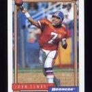 1992 Topps Football #125 John Elway - Denver Broncos