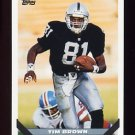 1993 Topps Football #628 Tim Brown - Los Angeles Raiders