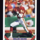 1993 Topps Football #461 Willie Davis - Kansas City Chiefs