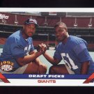 1993 Topps Football #275 Michael Strahan RC / Marcus Buckley - New York Giants