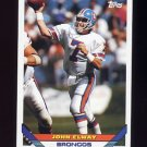 1993 Topps Football #100 John Elway - Denver Broncos